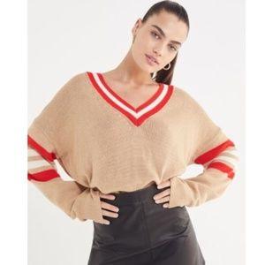 Urban Outfitters  Kristen varsity vneck sweater